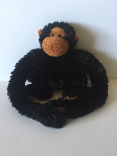Animal Alley Plush Chimpanzee Black With Brown Face Hands & Feet Monkey Ape