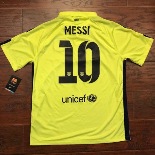 2014/15 Barcelona Third Jersey #10 Messi Large Camiseta Shirt Trikot Maglia BNWT