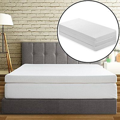 Sale Tri-Fold Memory Foam Mattress Topper, 4-Inch
