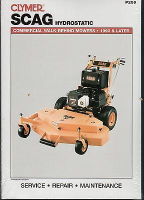 CLYMER 1990 & LATER SCAG HYDROSTATIC WALK BEHIND MOWER SERVICE MANUAL  P200