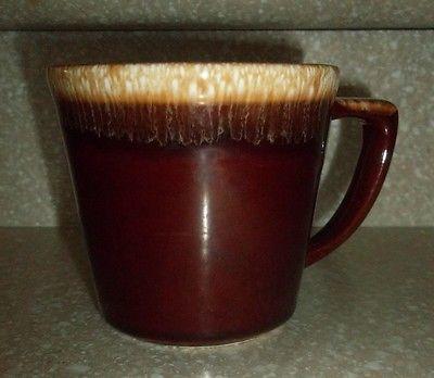 Vintage McCoy Signed Pottery Brown Drip Glazed Coffee Tea Mug Cup USA Original