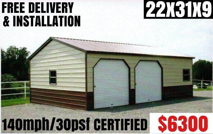 Metal Building, Carport, RV Cover, Barn, Steel Garage, Utility Shed, Car Canopy