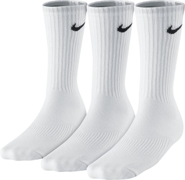 Nike Boys Cotton Crew 3-Pack Socks SX4719-101 White Black US Size Small