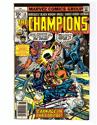 THE CHAMPIONS #16 in FN/VF condition a 1977 Marvel Comic with MAGNETO & DR. DOOM