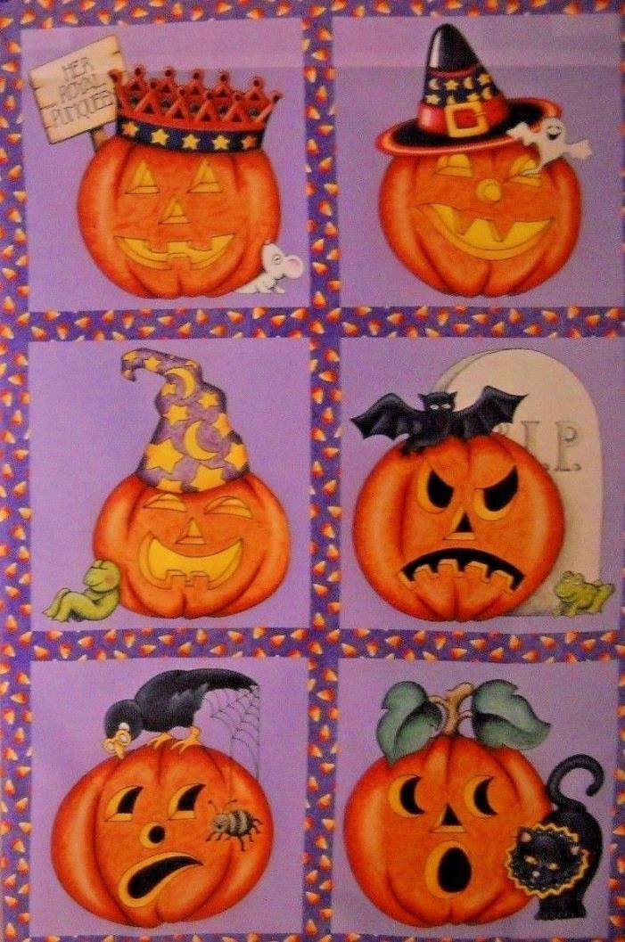 ** Halloween Six Jack O Lanterns ** Large Fall Flag