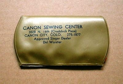 Vintage Small Advertising Sewing Kit, CANON SEWING CENTER Canon City, CO