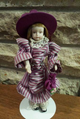 Vintage The Danbury Mint The 12 Gibson Girls porcelain doll 1984 - 7