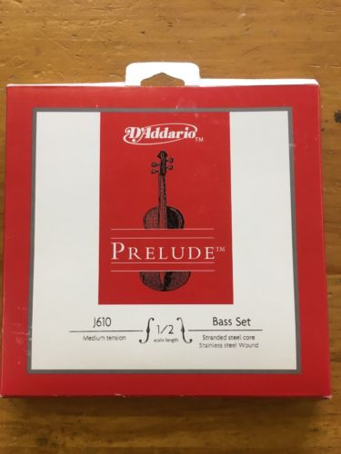 D'Addario Prelude Series Acoustic Upright Bass String Set 1/2 Size