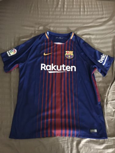 2017-18 Barcelona Lionel Messi #10 Home Base Jersey XL