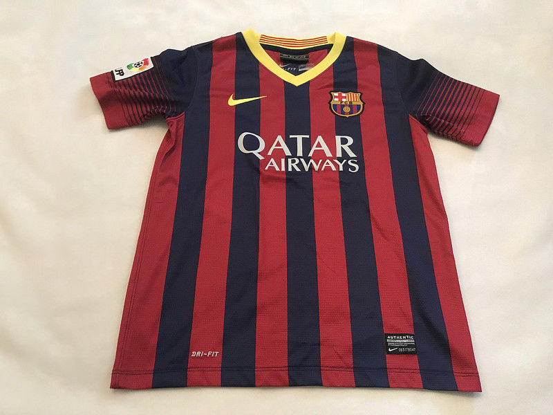 FC Barcelona FCB #10 Lionel Messi Nike Dri Fit Soccer Jersey Youth Medium