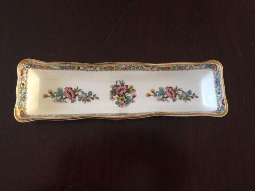 Vintage Coalport Bone China Ming Rose Decorative Holder (#56)