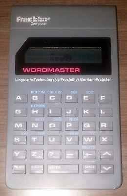 Franklin Computer Wordmaster WM-1200 tested working