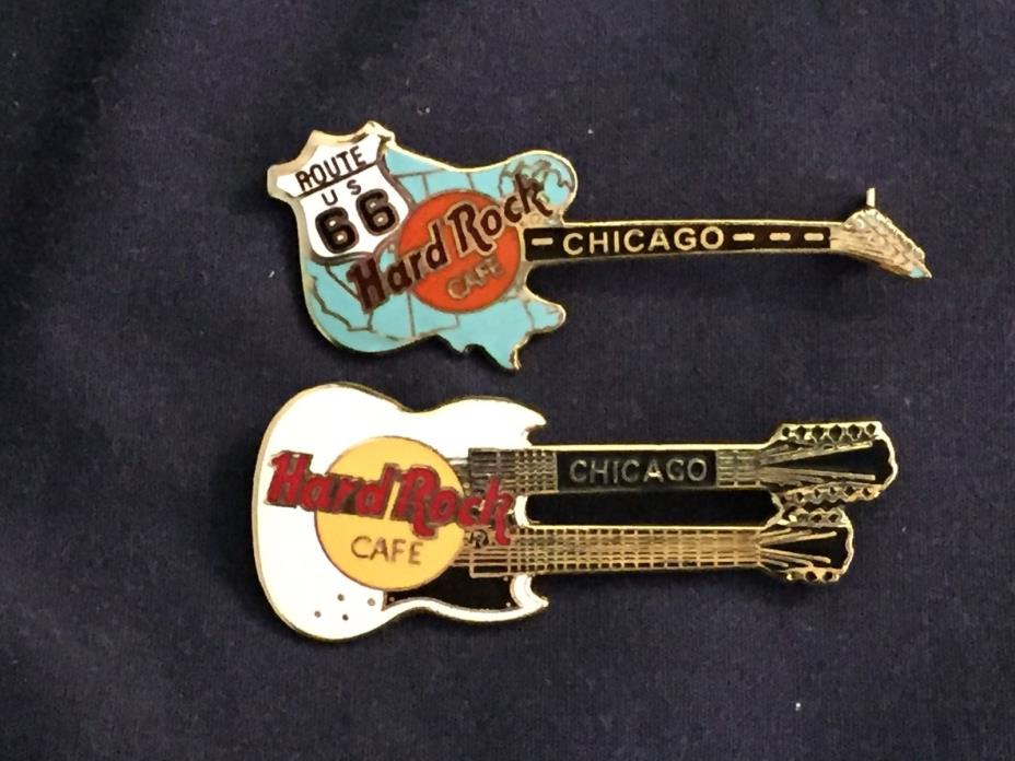 2 Hard Rock Cafe pins from CHICAGO