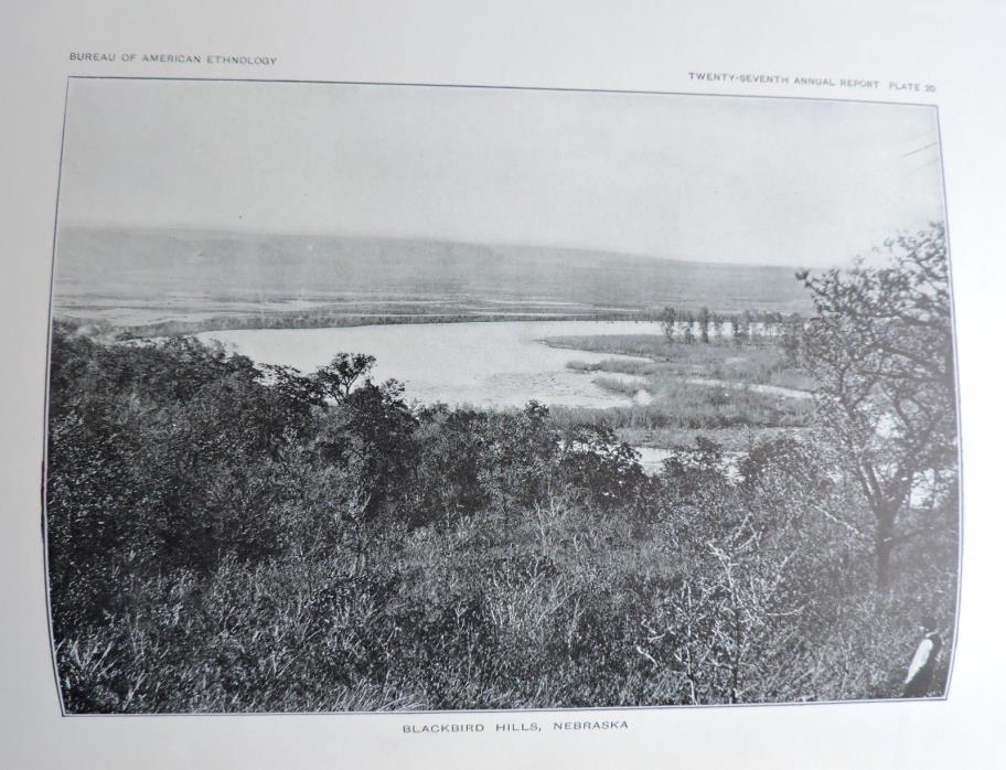 Blackbird Hills, Nebraska Native American Ethnology Art Print 1911