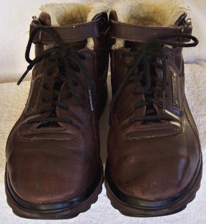 REEBOK CLASSIC VINTAGE LEATHER MID OUTDOOR WINTER BOOTS, SIZE 10 MEDIUM