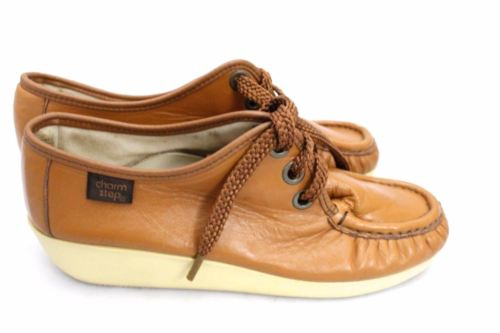 Vintage Shoes Charm Step Wedge Oxford Super 1970s style Sz 7 Womens