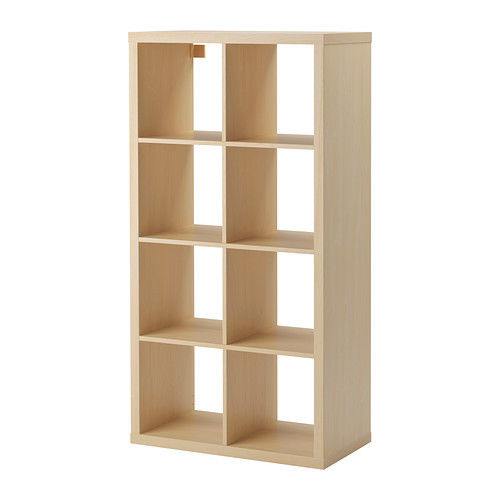 Ikea Kallax 2 x 4 Shelf Unit Birch Effect New