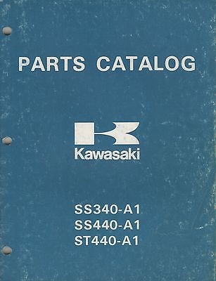 1978 KAWASAKI SNOWMOBILE INVADER & INTRUDER  P/N 99960-3501 PARTS MANUAL (908)