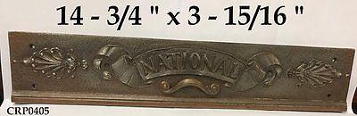 OLD & ORIGINAL RARE Stye/Pattern Ornate National Cash Register Drawerfront