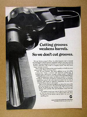 1970 Hombre .22 22 Revolver High Hi Standard handgun vintage print Ad