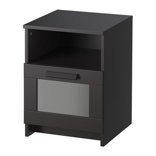 IKEA Brimnes Nightstand Black New