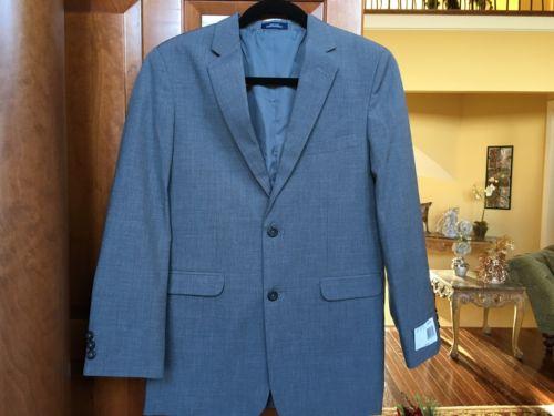 Big Boys Youth CHAPS by Ralph Lauren Medium Grey 2 Button Blazer Suit Jacket 18