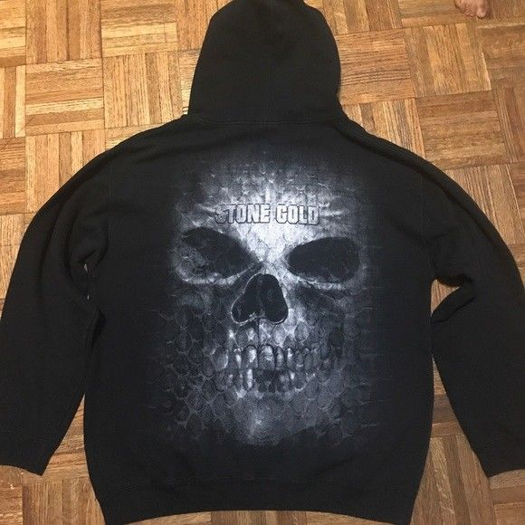 Authentic WWE Stone Cold Steve Austin Hoodie L