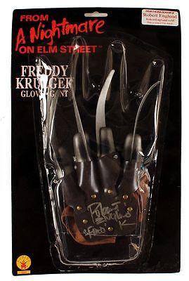 FREDDY KRUEGER SIGNED GLOVE ROBERT ENGLUND COA  NIGHTMARE ON ELM STREET!