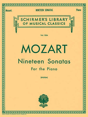 Mozart 19 Sonatas Piano Solo G Schirmer Advanced Classical Sheet Music Book NEW