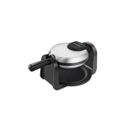 NEW Spectrum WM1404S BD Rotary Waffle Maker Blk SS