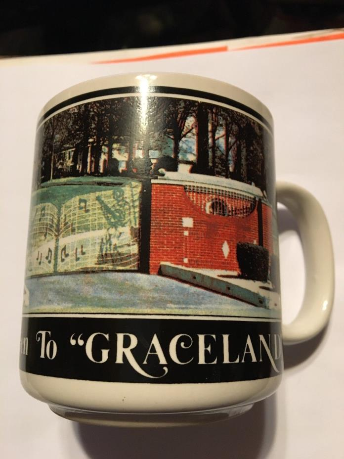 Elvis I've been to Graceland Coffee Mug/ 1988 Unused Mint Condition