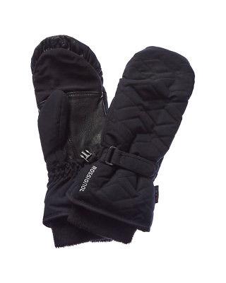 Rossignol Judy Impr Waterproof Leather-Trim Mitten, L, Black