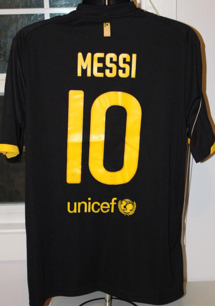Messi Jersey Shirt XL Qatar Foundation 10 Black FC Barcelona