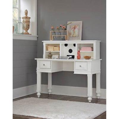 NE Kids Lake House White Writing Desk with Hutch - 1540NDH