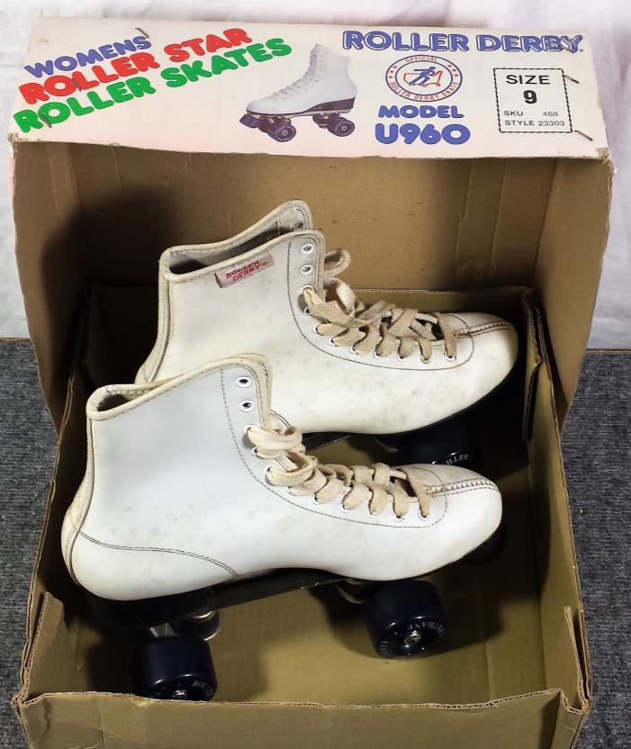 Vintage ROLLER STAR Derby Skates Women's Size 9 Model U960 Used Working w/Box