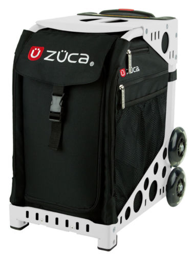 Zuca Sport Obsidian Insert Bag & White Frame with Flashing Wheels
