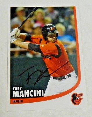 Trey Mancini signed ORIOLES BASEBALL POSTCARD Autographed