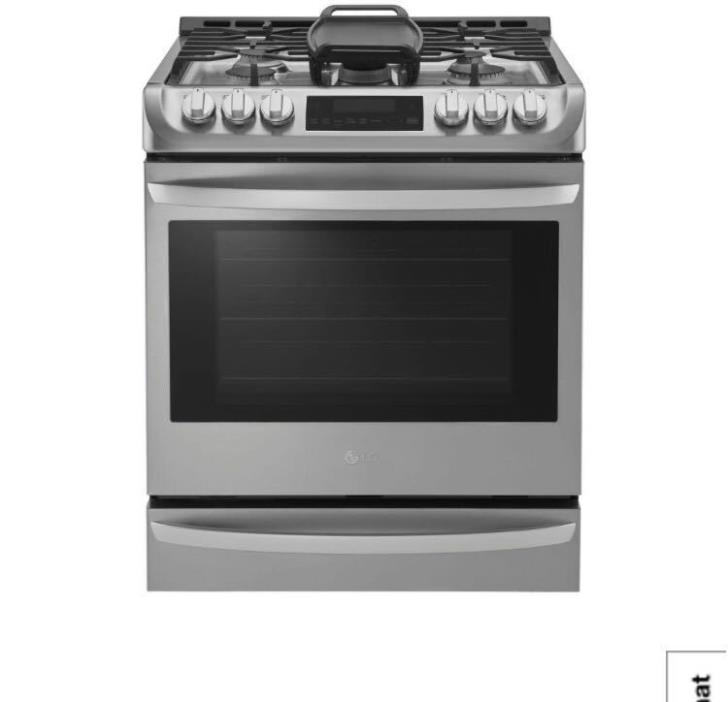 LG 6.3 CU FT Gas Range W Probake Stainless Steel Convection Oven LSG4513ST