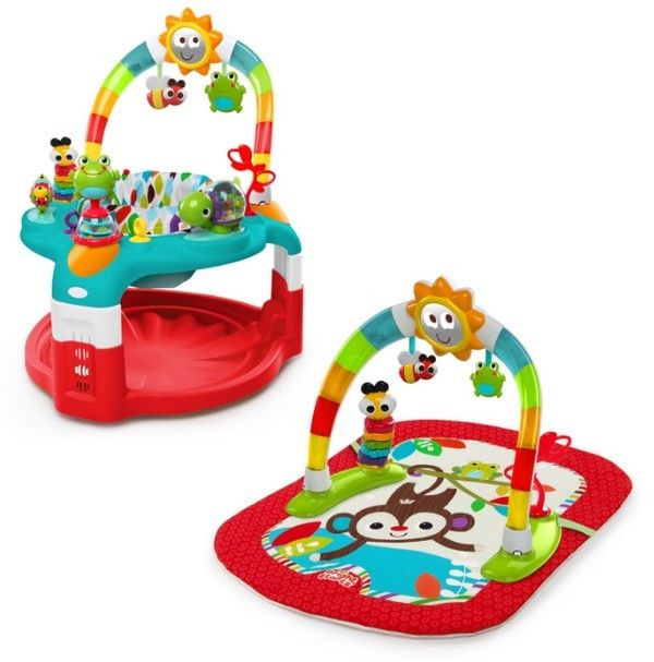 Baby Walker Activity Gym Saucer 2-in-1 Infant Gear Seat Toy Station Music Sounds