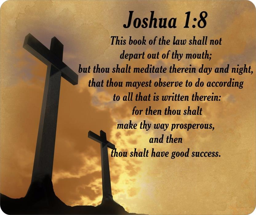 Religious Bible Verse Joshua 1:8 Mouse Pad FREE SHIPPING