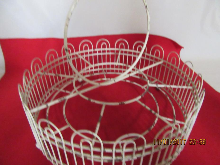 Old Antique Wire Carring Carier Rack for 8 Glasses