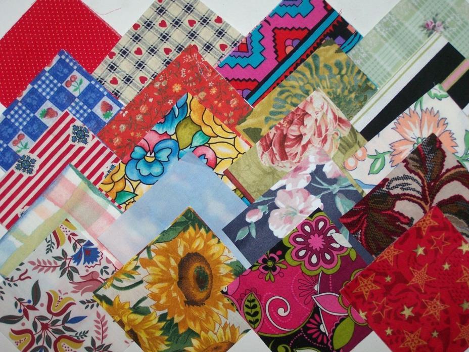 Large lot 500+ cotton fabric quilt block 4