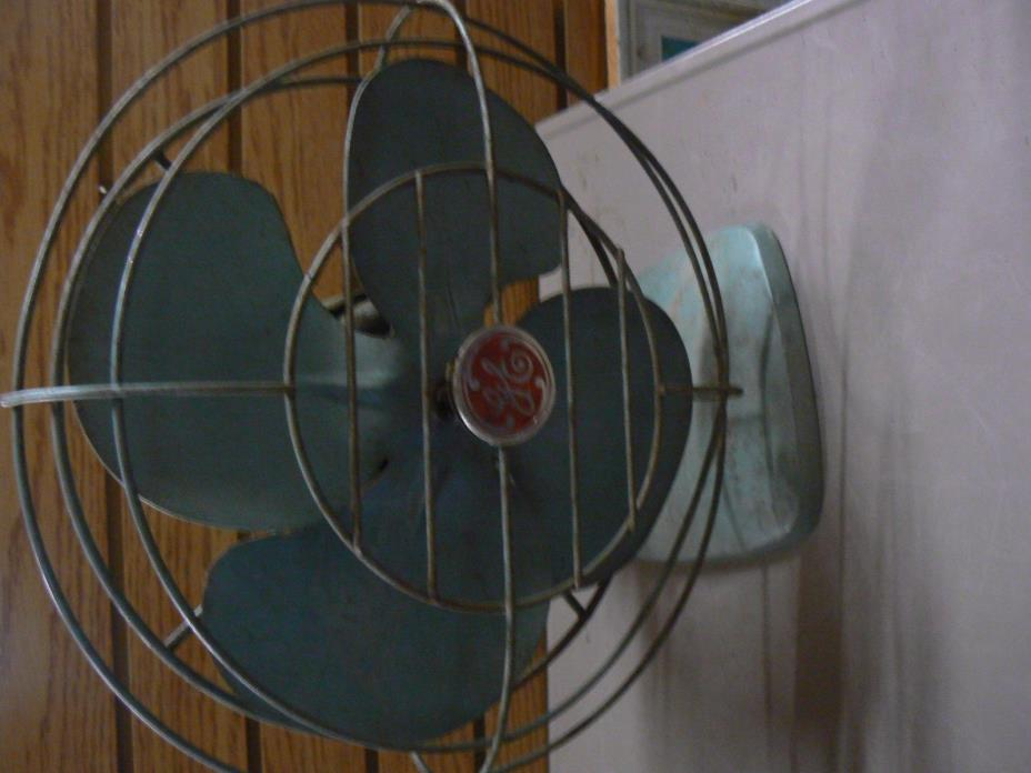 Vintage GE General Electric OSCILLATING METAL FAN wall Table  USA