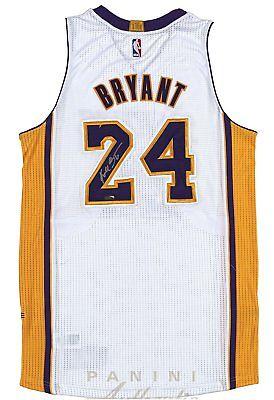 Kobe Bryant Hand Signed Autographed Authentic White Jersey LA Lakers Panini COA