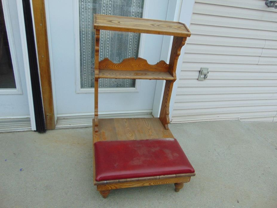 vintage/antique  prayer bench   nice  # 1711