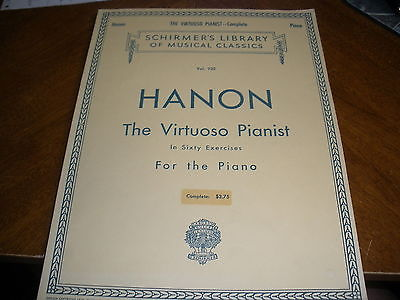 schirmer's library classics HANON the virtuoso pianist in 60 exercises for piano