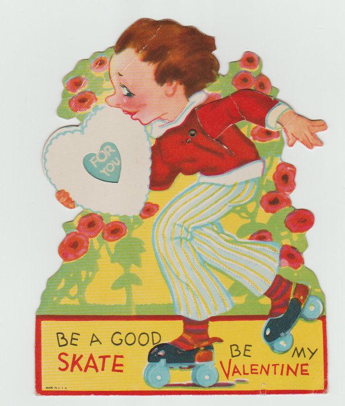Mechanical Vintage Valentine, Roller Skater