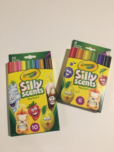 Crayola LOT of 2 boxes Silly Scents Scented Markers (16 markers) School Art