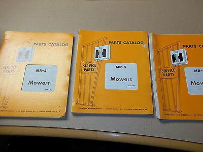 International Harvester MR-5 Mowers (100,105,110,120,115,200,816,70,&230 mowers)