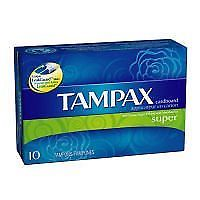 TAMPAX SUPER FLUSH APPL 10